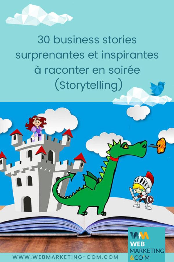 30 business stories surprenantes et inspirantes à raconter en soirée (Storytelling) via @webmarketingcom