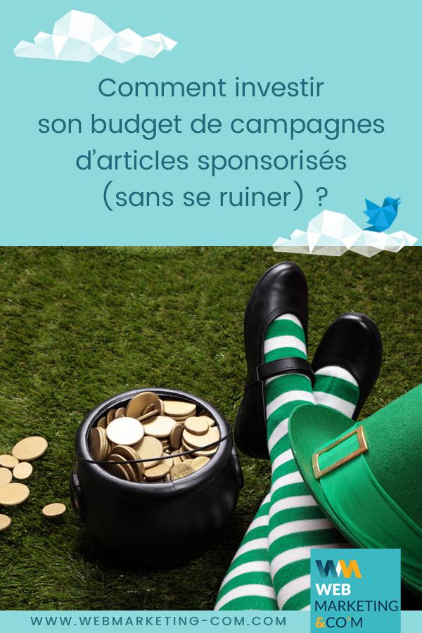 Comment investir son budget de campagnes d'articles sponsorisés (sans se ruiner) ? via @webmarketingcom