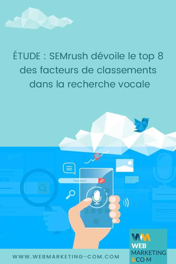 ÉTUDE : SEMrush dévoile le top 8 des facteurs de classements dans la recherche vocale via @Webmarketingcom