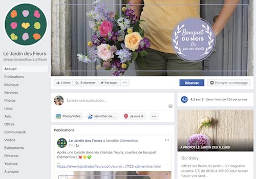 page facebook fleuriste