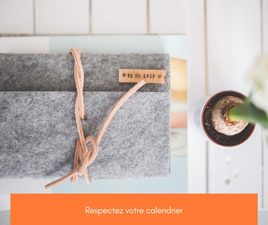 Respectez votre calendrier de publication
