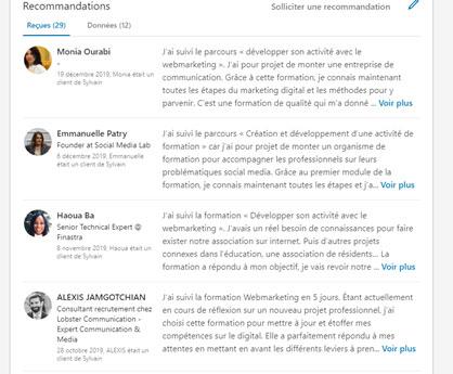 avis positif Linkedin et e-réputation