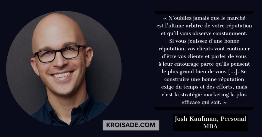 Josh Kaufman, personnel MBA
