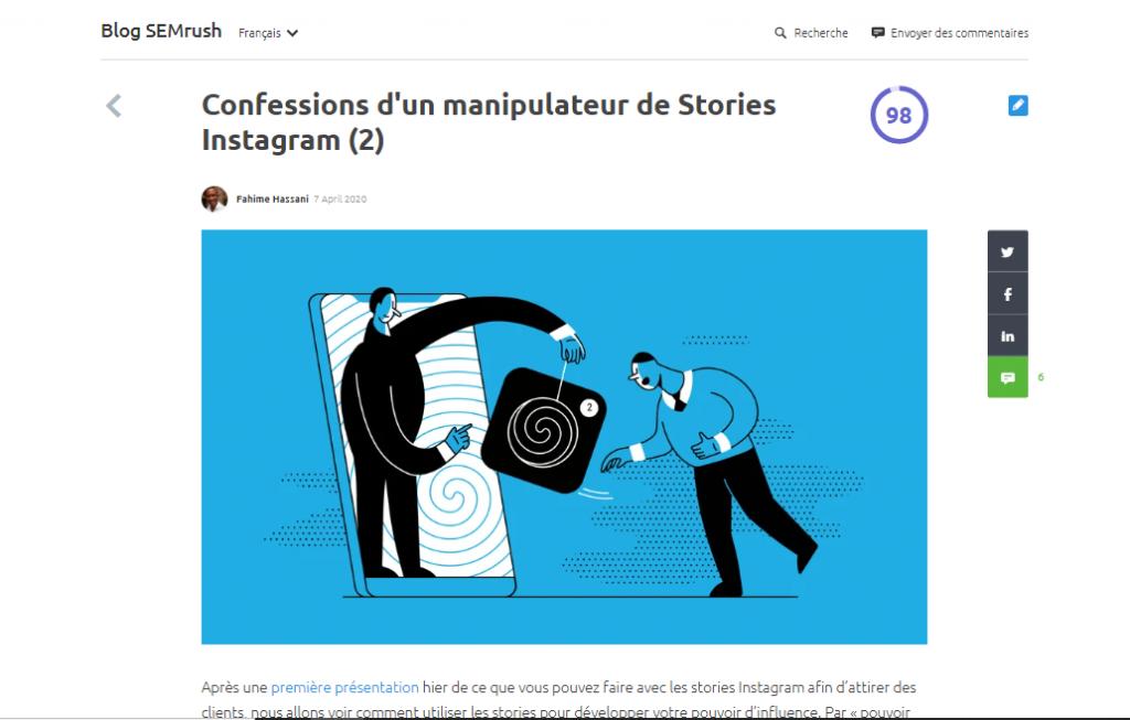 Histoires et marketing Instagram