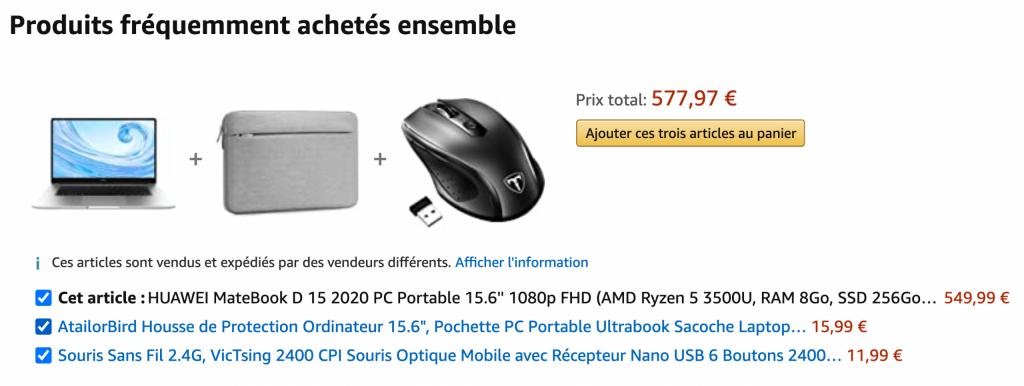 bundle Amazon ordinateur portable