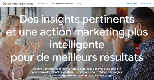 Page de Google Marketing Platform
