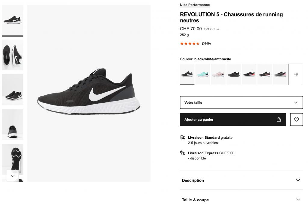 Nike paire de chaussures Revolution 5