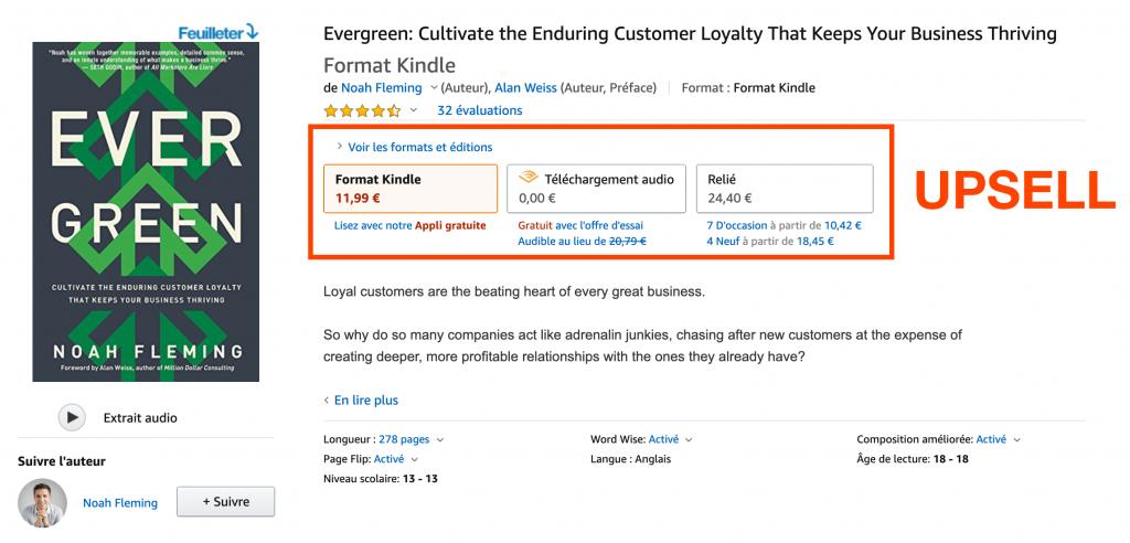 up sell livre Amazon Evergreen Noah Fleming