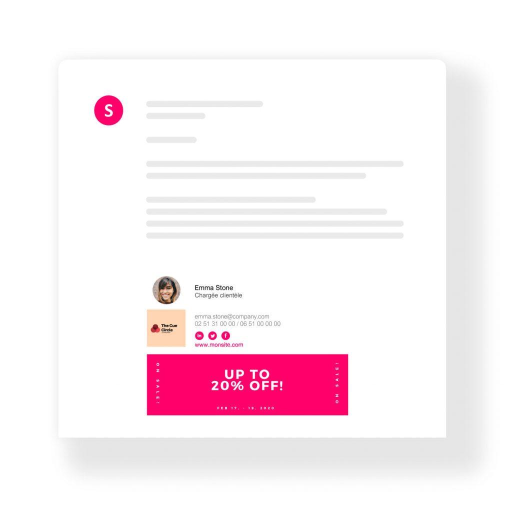 Signature mail promotionnelle