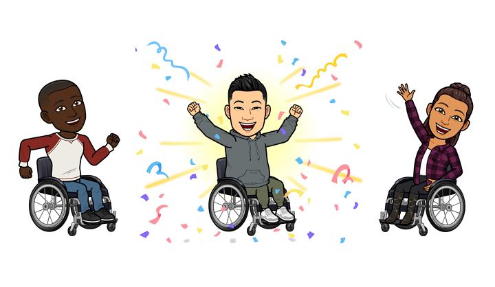 Snapchat ajoute de nouveaux avatars Bitmoji en fauteuil roulant