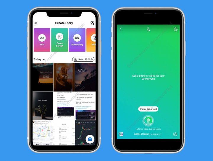 Stories Facebook : Facebook teste une nouvelle option de création « écran vert »