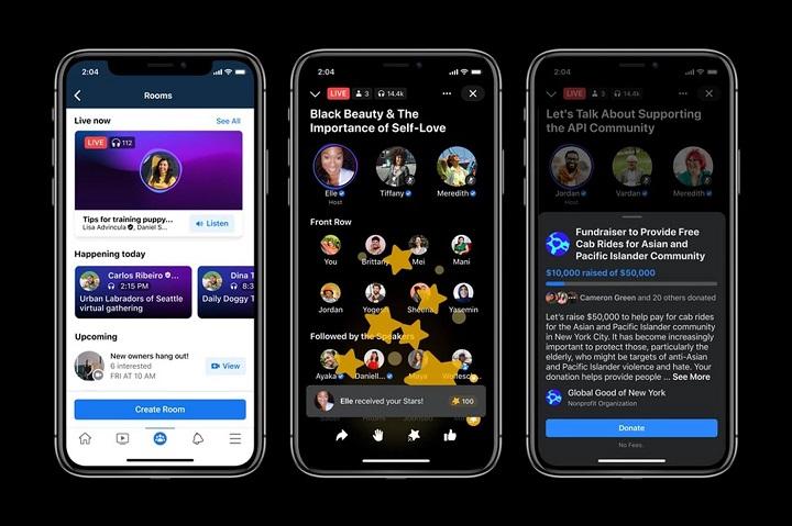 Facebook lance les salles audio en direct en France et à travers le monde !